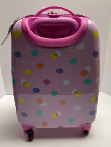 NEW DISNEY STORE MOUSE PINK SHELL ROLLING LUGGAGE