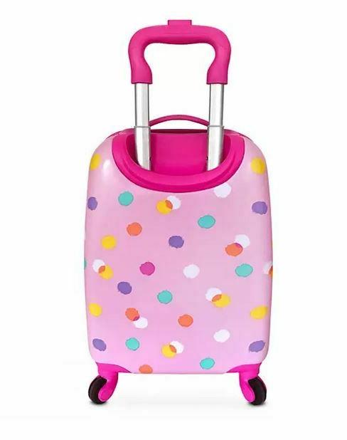 """NEW STORE MOUSE PINK 16"""" SHELL LUGGAGE"""