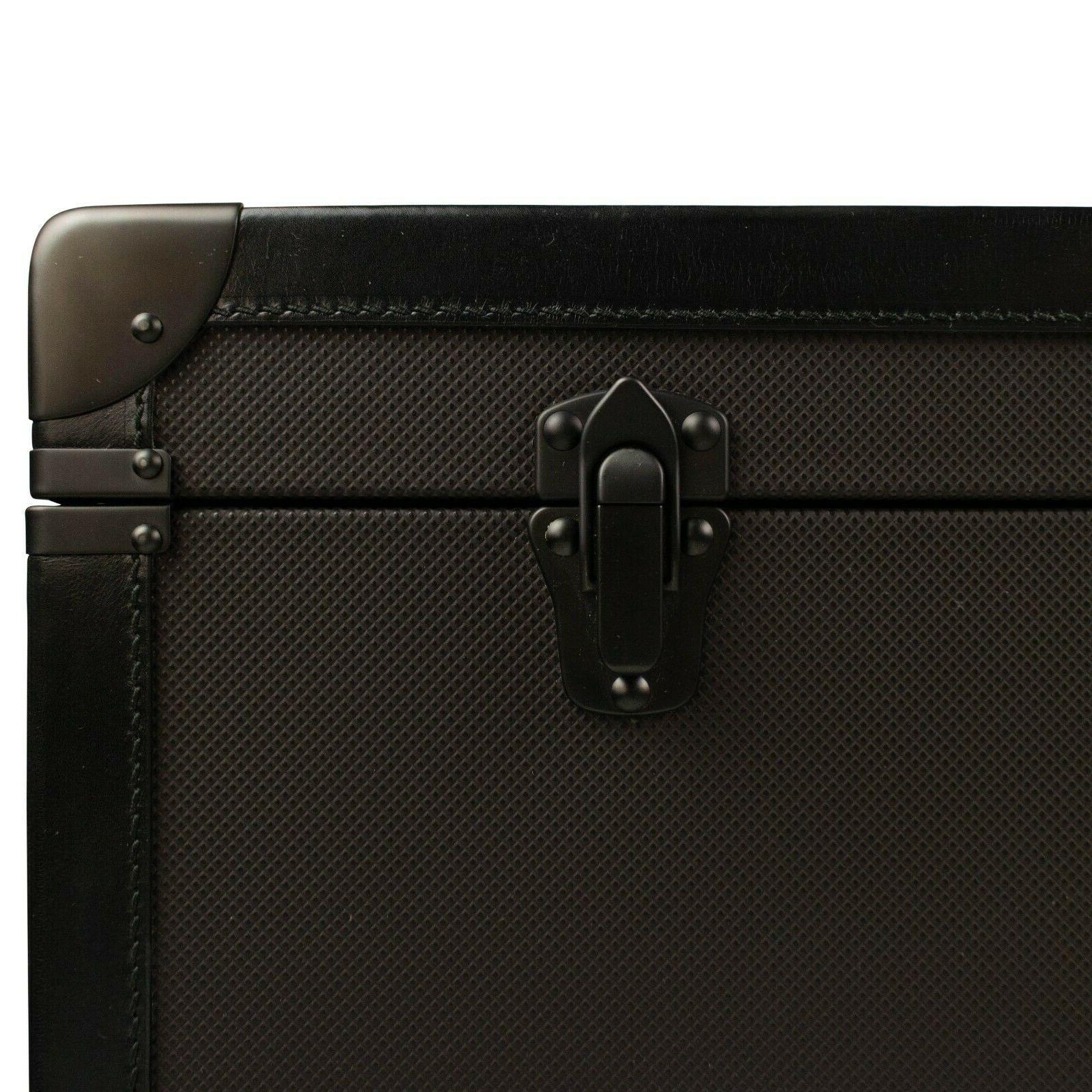 NWT Brown Canvas Hard Luggage