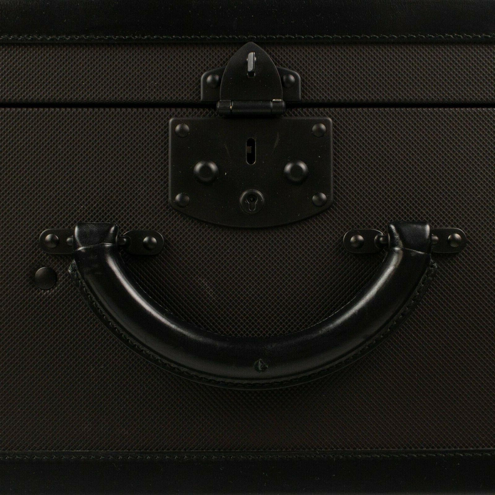 NWT Bottega Veneta Brown Canvas 'Marco Hard Suitcase Luggage