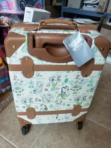 NWT Disney Animators Princess Hard Rolling Suitcase