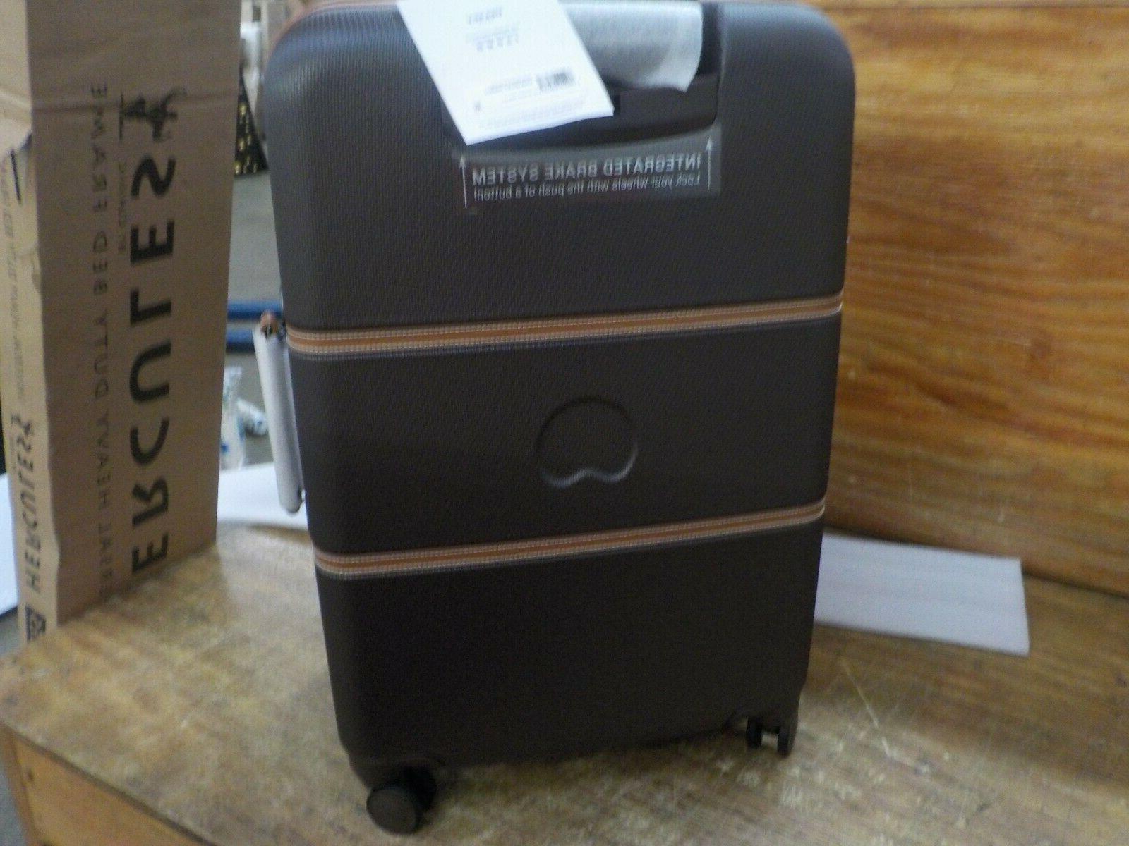 DELSEY Paris Hard+ Hardside Spinner Suitcase, Chocolate