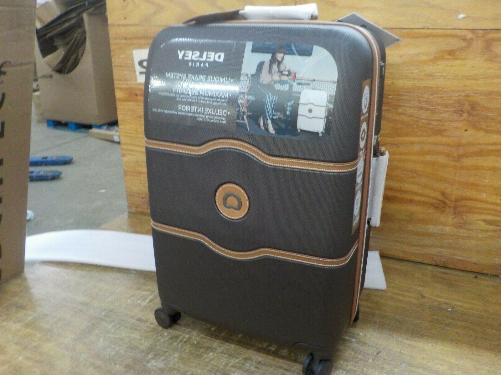DELSEY Chatelet Hard+ Hardside Medium Suitcase, Chocolate