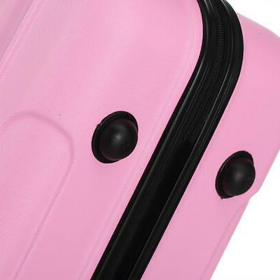 Pink Luggage Set Bag ABS Trolley Hard Shell Suitcase w/TSA lock