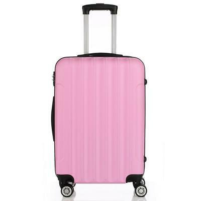 Pink Travel Luggage Set Hard Shell lock Cute
