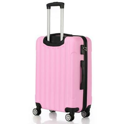 Pink 3X Travel Set Hard Shell lock