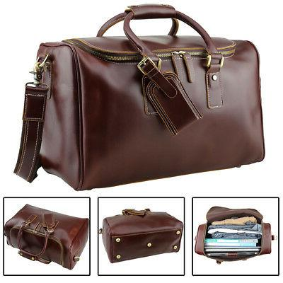 real leather outdoor luggage suitcases for men