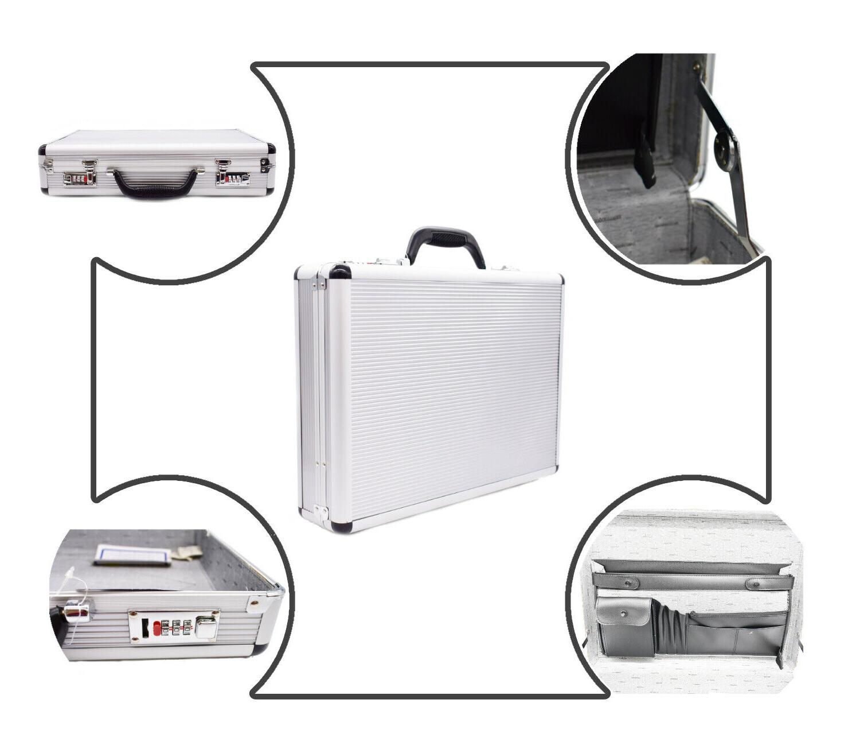 Silver Aluminum Briefcase File Hard Digit