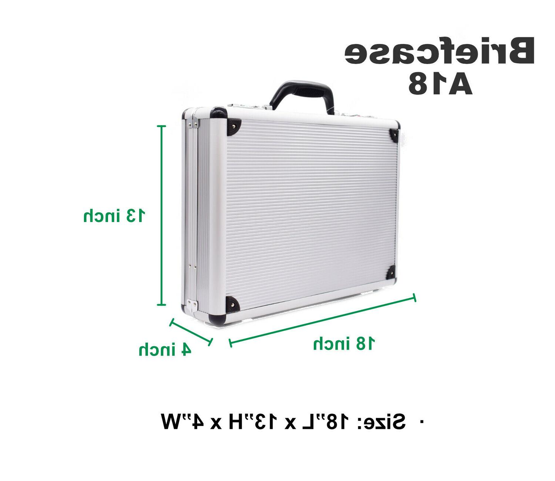 Silver Briefcase File Digit Combination Lock