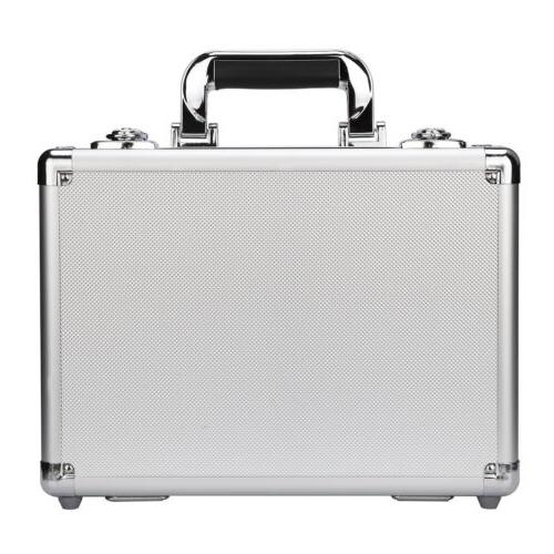 Silver Aluminum Hard Case Home Storage Office PC