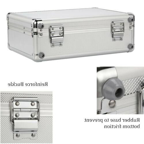 Silver Aluminum Hard Case Home Storage Office
