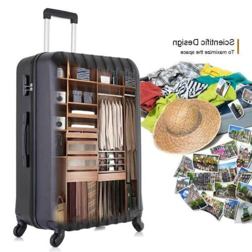 """Travel Luggage Trolley 16""""20""""24""""28"""" Black"""