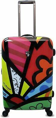 "Heys USA Luggage Britto New Day 26"" Hard Side Suitcase Multi"