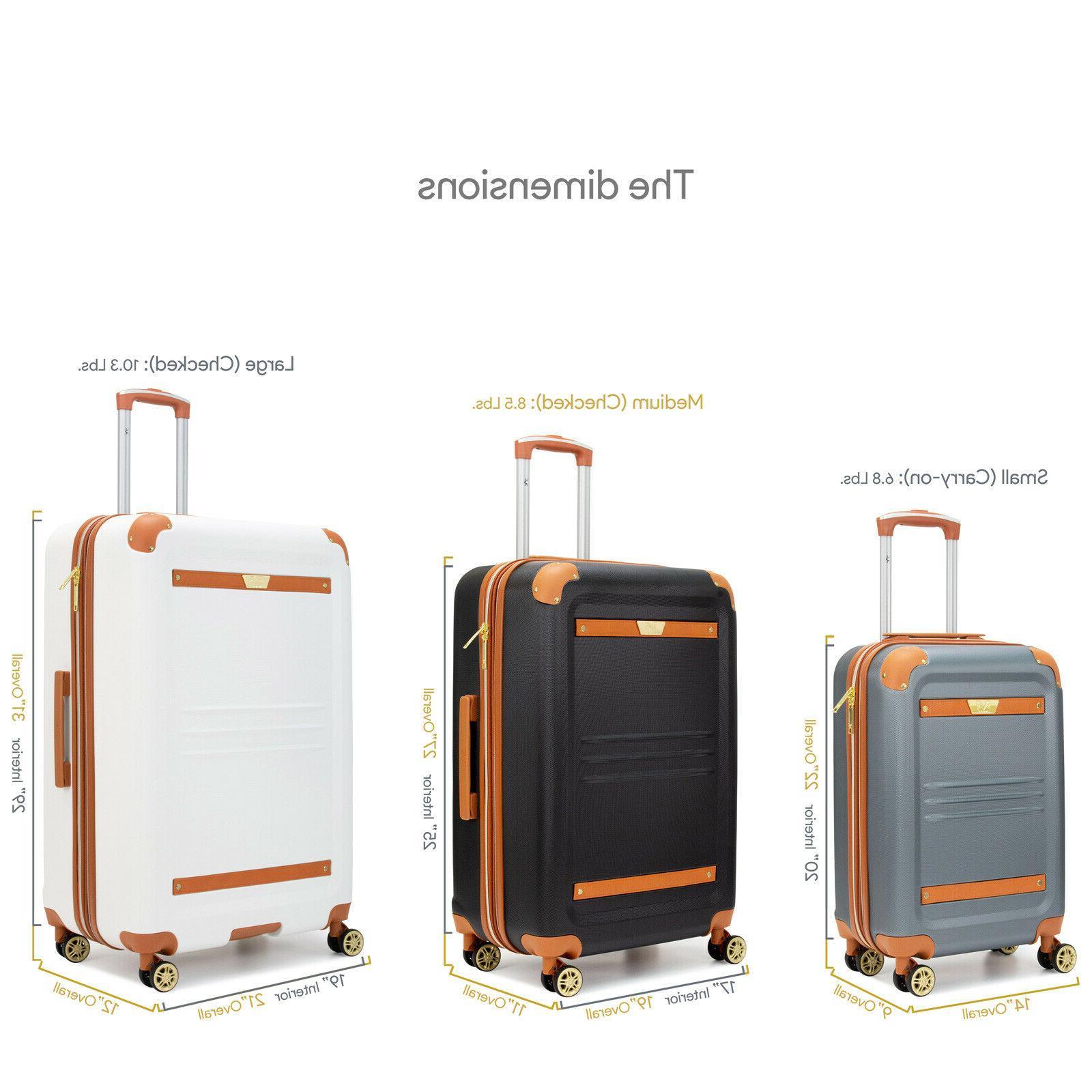 19V69 Italia Vintage Expandable Hard Spinner Suitcase