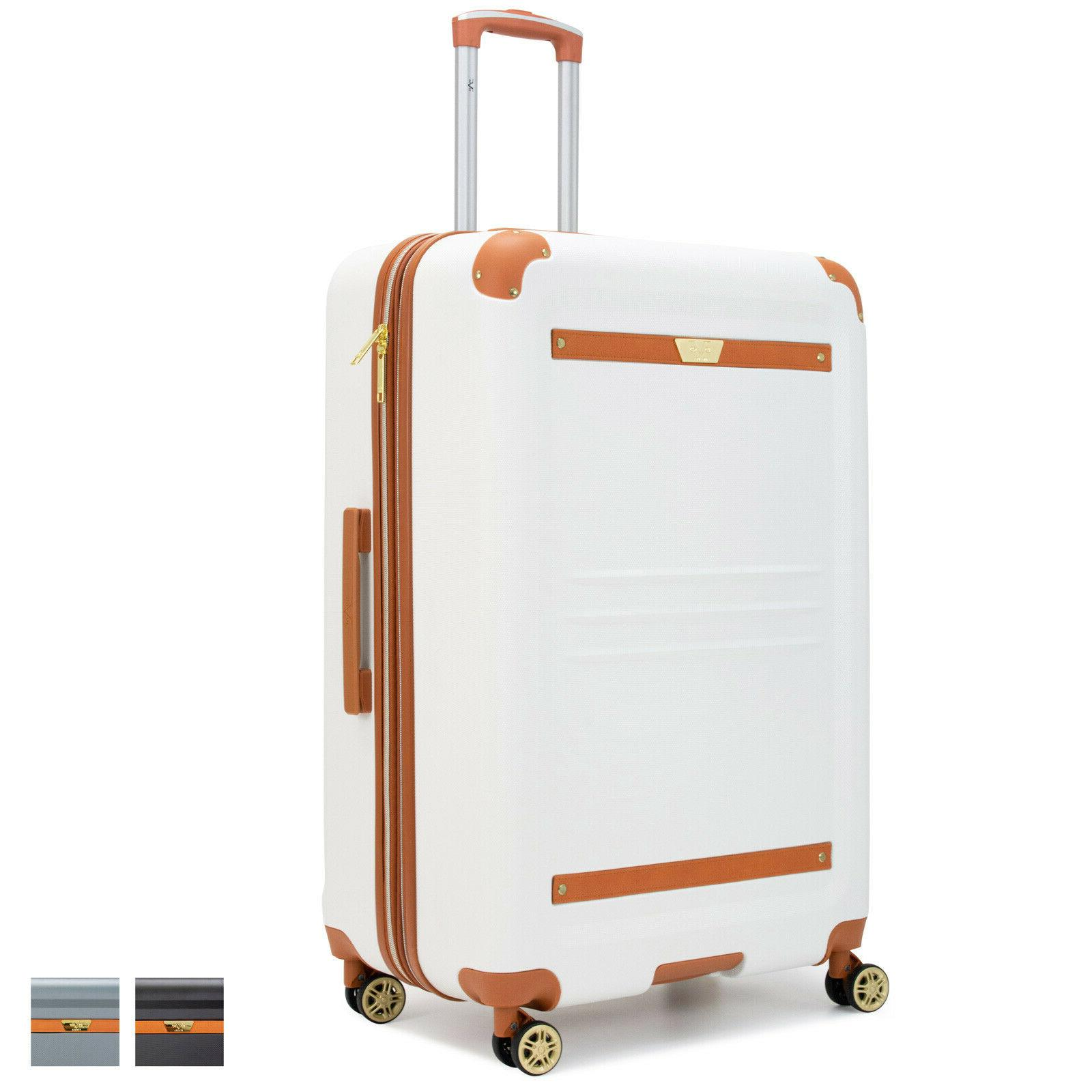 vintage expandable hard spinner suitcase 20 25