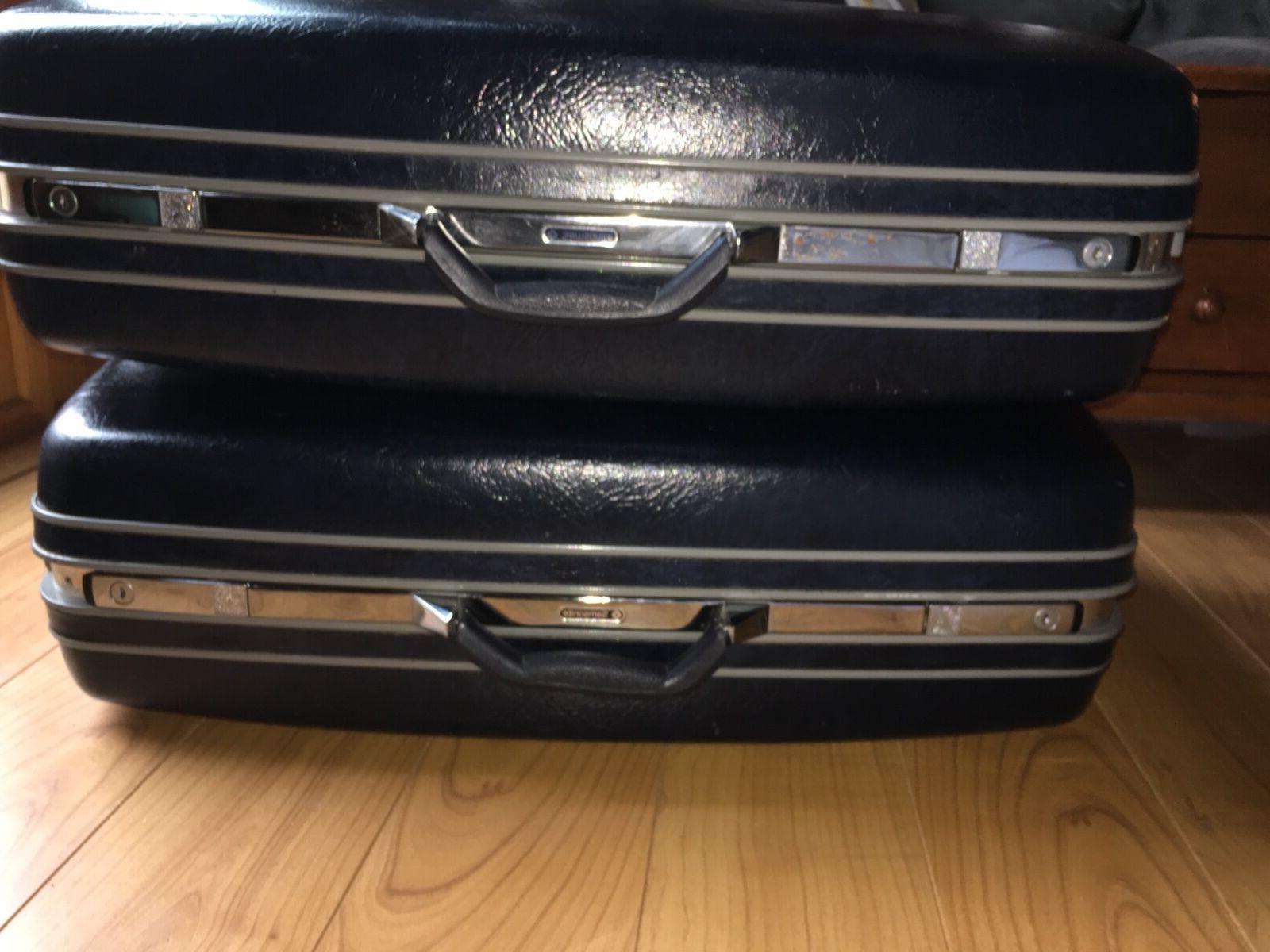 vintage samsonite luggage 2 suitcases