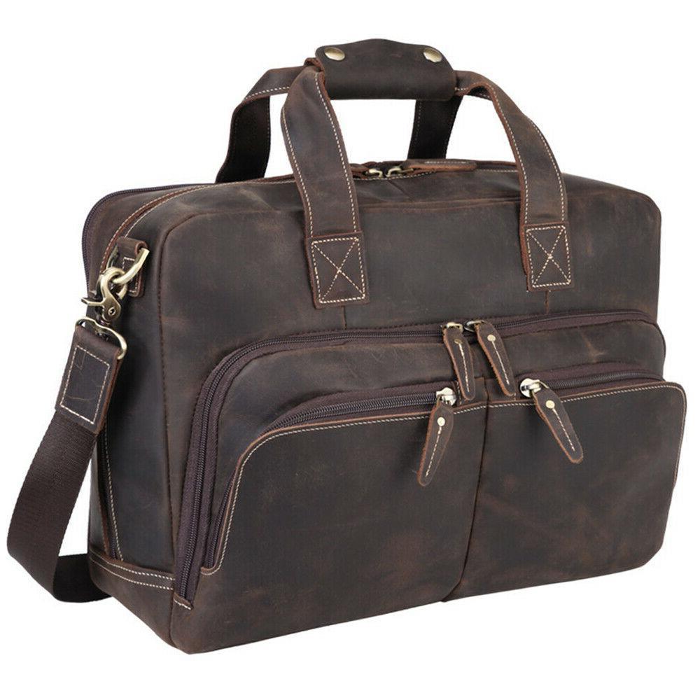 """Vintage Men 16"""" Laptop Shoulder Travel"""