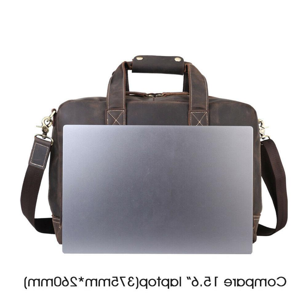 """Vintage 16"""" Laptop Shoulder Travel Handbag"""