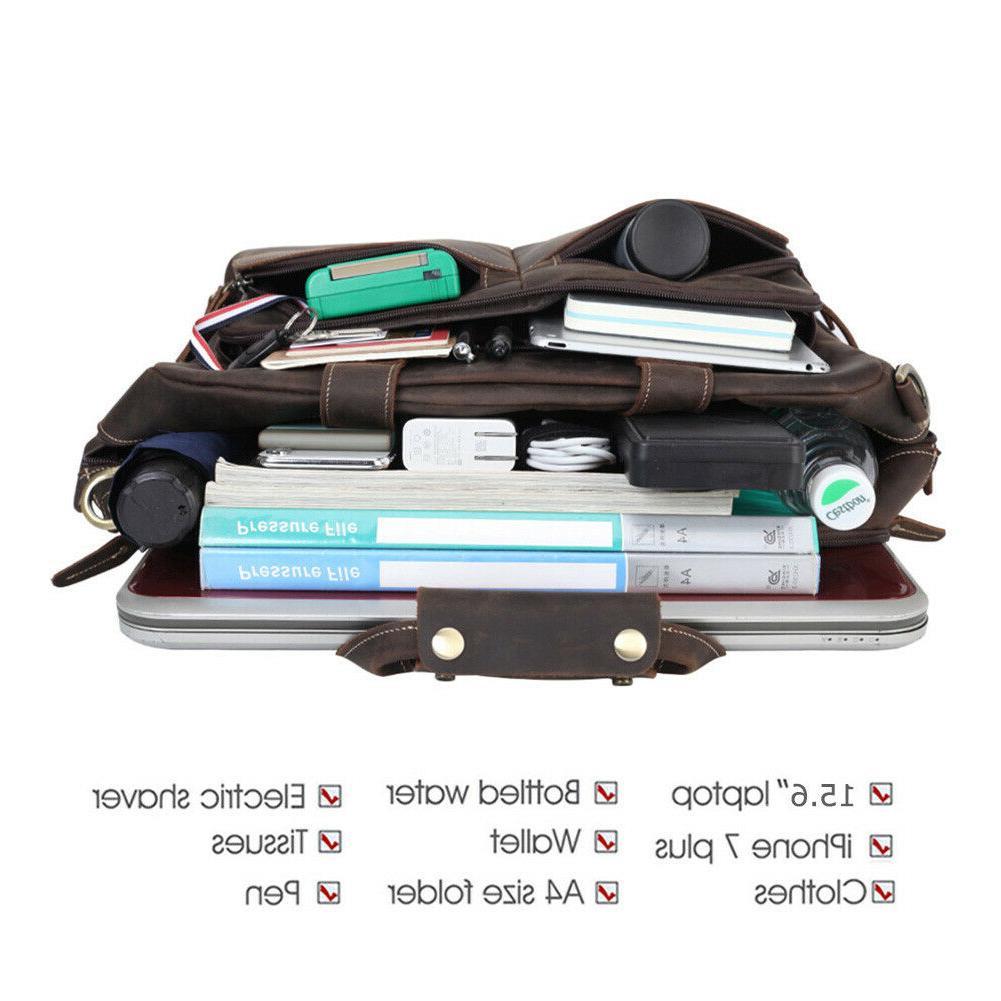 """Vintage Men 16"""" Shoulder Bag Travel Satchel"""