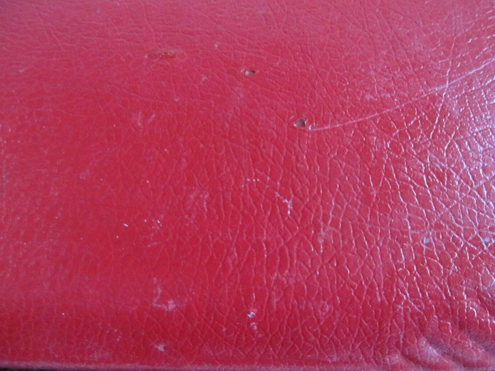 Vintage Small Size Red Suitcase Luggage Shell Kids Overnight Key