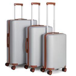 Lightweight 4 Wheel Hard Shell Suitcase PC Luggage Trolley C