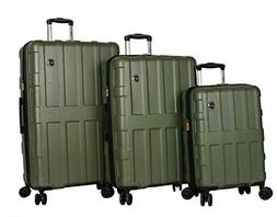 Lucas Luggage 3 Piece Rolling Suitcase Set Hard Case With Sp