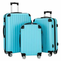 Luggage 3 Piece Set Suitcase Spinner Hardshell Lightweight T
