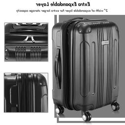 LUGGAGE CARRY ON SUITCASES WITH SPINNER WHEELS EXPANDABLE 20