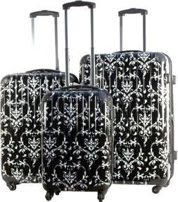 3pc Luggage Set Hard Rolling 4 Wheels Spinner Upright Travel
