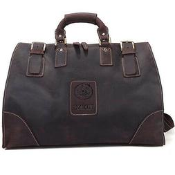 Men's Large Leather Travel Bag Luggage Duffle Gym Messenger