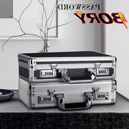Men Women Aluminum Hard Briefcase Metal Frame Small Tool Box