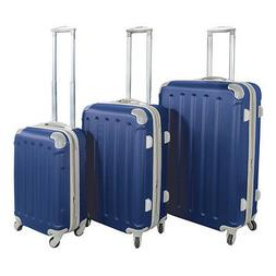 Navy Blue ABS Hard Case Shell Rolling Spinner Luggage Suitca