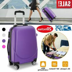 New 20 Inch Hardside Spinner Luggage Hard Shell Suitcase w/