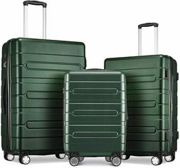 New Fochier Hard Shell Luggage Sets Expandable Suitcases Spi