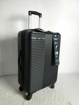 "New Travelers Club Luggage Basette 24"" Black Luggage Suitcas"