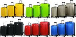 """Dejuno"" Polycarbonate Upright Hard Shell Suitcases Spinner"