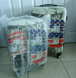 """NEW SET x  2 Suitcase Spinner ROUTE 66 26"""" &  20"""" carryon Lu"""