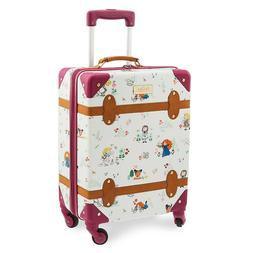 "New Disney Store ANIMATORS' COLLECTION ROLLING LUGGAGE 21"" P"