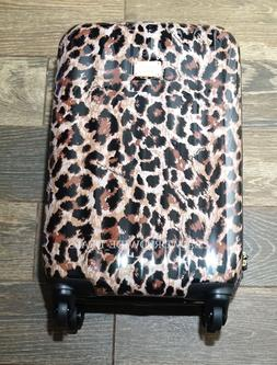 New Victoria's Secret Hard Shell Leopard Print Rolling Suitc