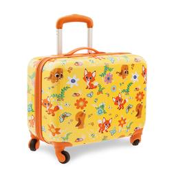 NWT Disney The Fox and the Hound Suitcase, Kids Rolling Lugg