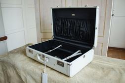 Pamela Anderson's Prada White Hard Saffiano Travel Suitcase