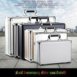 Password Lock Aluminum Hard Briefcase Business Industrial Ho