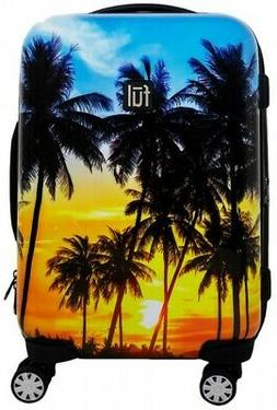 "Ful Printed Tropical Palm Sun 21"" Hardside Carry-On"