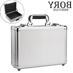Silver Aluminum Hard Briefcase Business Office Tablet PC Sui