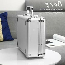 silver aluminum hard case home storage boxes