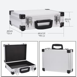 Small Aluminum Hard Briefcase Home Toolboxes Office File Sui