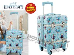 "Disney Store  FROZEN 2 ROLLING LUGGAGE 18"" SMALL Parks Hard"