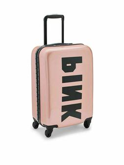 Victoria's Secret PINK Logo Wheelie Suitcase Hard Case  Carr